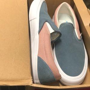Vans Shoes - NIB Vans Slip On Pro goblin blue mahogany rose